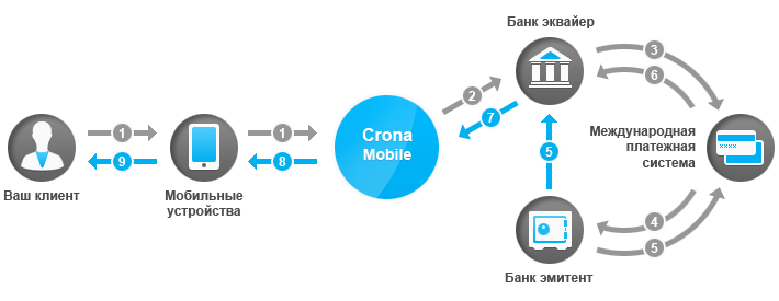 Интернет-эквайринг на примере Crona