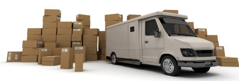 Автомобиль занимающийся доставкой товаров в интернет магазин