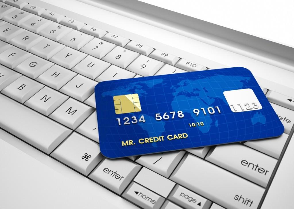 Ноутбук с кредитной карточкой