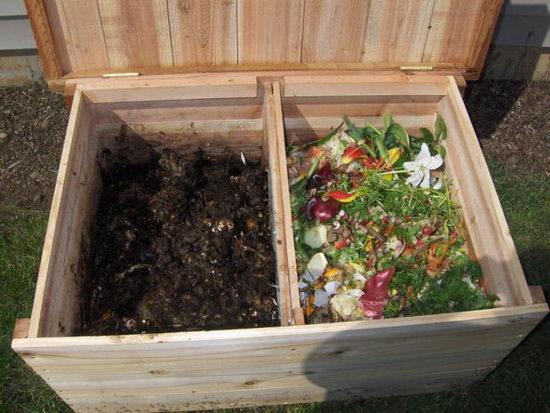коробка с червями и удобрениями
