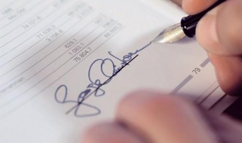 подпись в документе